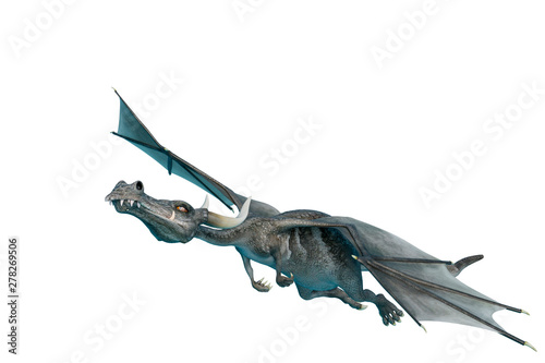 dragon cartoon going up - Buy this stock illustration and