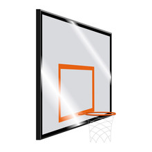 Isolated Basketball Hoop On A White Background - Vector