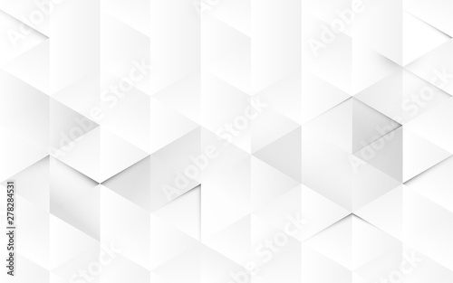 Abstract white geometric 3d interior background. vector illustration