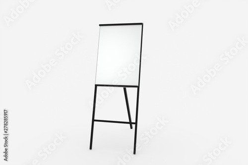 The blank easel board with white background, 3d rendering. Canvas Print