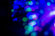 canvas print picture - Abstract bokeh lights with black background.