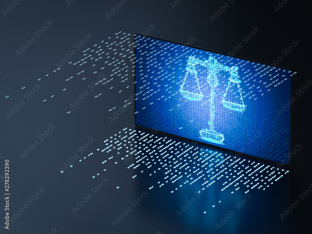 Fototapety, obrazy: Cyber law concept