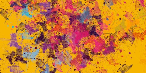 Backdrop material. Colorful pattern. Abstract. Oil painting. Color texture. Wall painting. Painterly mix. Modern art. Canvas surface. 2d illustration. Wide brush.