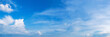 Leinwandbild Motiv Panorama sky with cloud on a sunny day. Beautiful cirrus cloud.