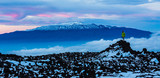 Icy Volcano Summits