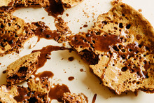 Honeycomb Candy With Chocolate Sauce