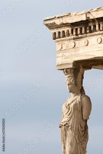 Deurstickers Historisch mon. Detail of the Erechtheion temple