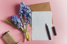 Bouquet Of Flowers With Stationery