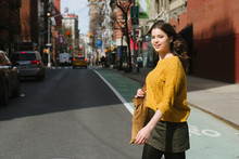 Young Woman Walking In New Yor...