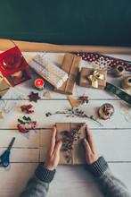 Decorating Christmas Presents ...
