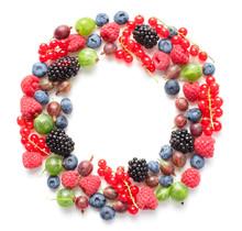 Circle Frame Made Of Berries I...