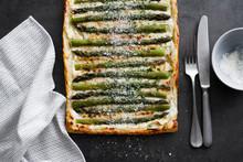 Asparagus Ricotta Tart With Parmesan