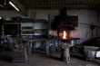 Blacksmith's workshop in daylight.
