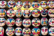 Baskets Painted With Faces