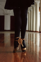 Crop Ballroom Dancer In Heels