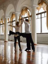Dancing Ballroom Partners In Hall