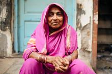 Aged Indian Woman Portrait