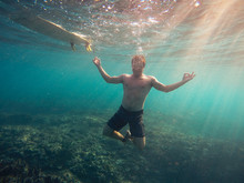 Underwater Yoga Pose