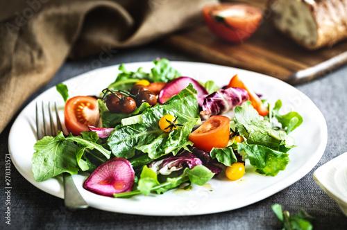 Healthy Salad Canvas Print