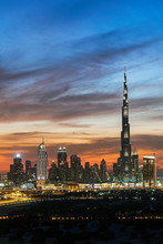 Modern City Skyline, Dubai, UAE