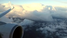View Of The Clouds And Sky From Ryanair Flight