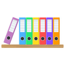 Many Color Document Folders On...