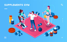 Gym Supplement, Workout Or Fit...