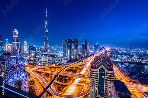 Fototapeta Dubai the vibrant city