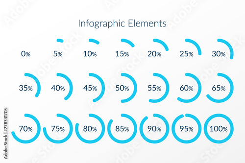 Photographie  Percentage vector infographic icons