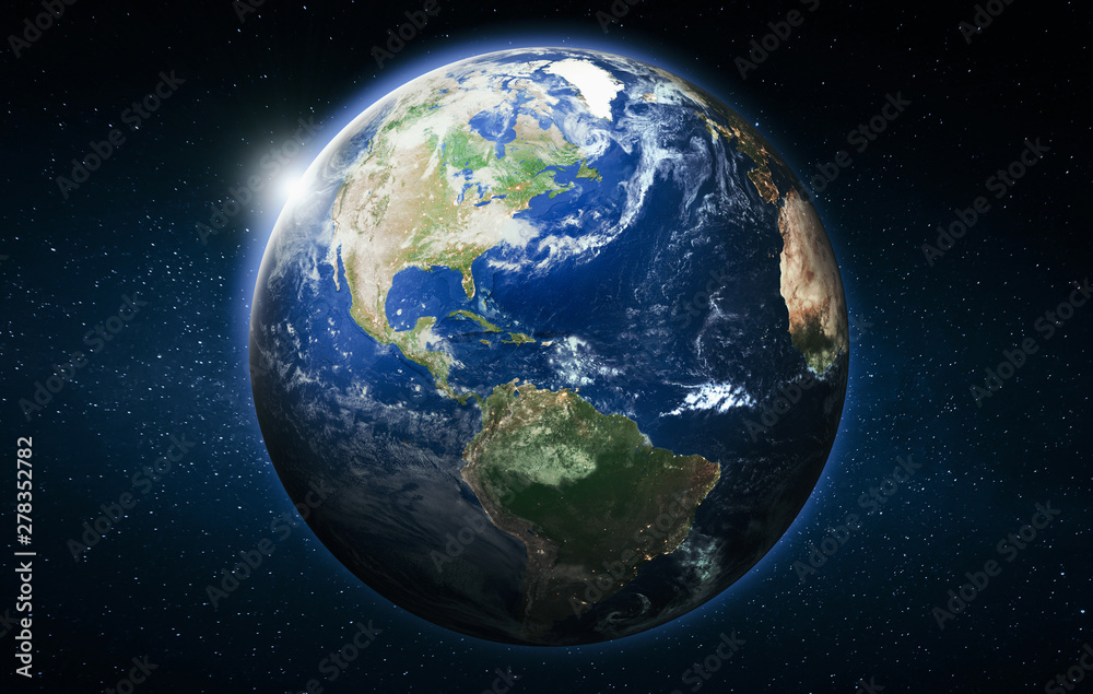 Fototapety, obrazy: America planet Earth globe