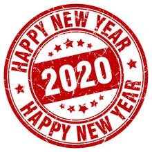Happy New Year 2020 Stamp. Yea...