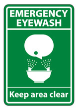 Emergency Eyewash Keep Area Cl...