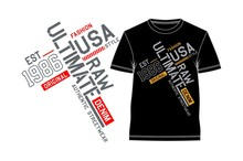 Ultimate Slogan Graphic Typography For T Shirt Print, Vector Design Illustration