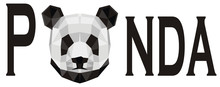 Panda And Black Letters