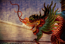 An Asian Dragon Is Ready To At...