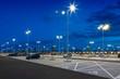 Leinwanddruck Bild - big modern empty parking lot at night