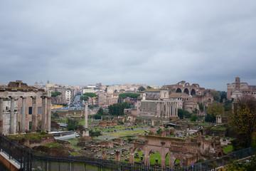 Fototapeta na wymiar Imperial forums view, Rome, Italy. Roma landscape