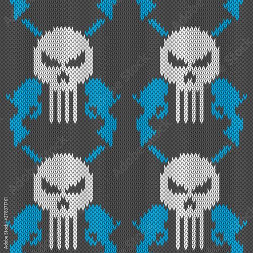 Skull and pistols Fototapet