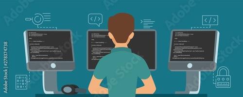 Fotografía Software developer character