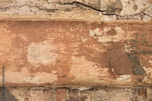 Foto auf AluDibond Alte schmutzig texturierte wand old shabby damaged plaster on the walls of houses close-up