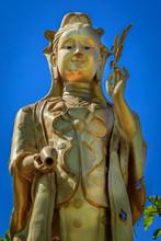 Buddastatue Im Tempel Von Wat Mok Khan Lan Chiang Mai, Thailand