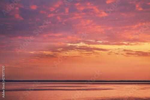 Papiers peints Corail Sunset at Gdansk bay in Jastarnia. Hel Peninsula. Poland