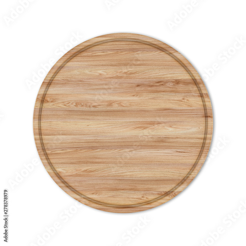 Photo  Round boards for pizza from the wood, 3D illustrations.