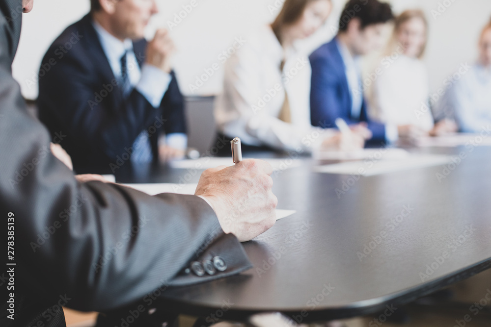 Fototapety, obrazy: Business people in conference room