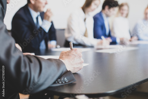 Obraz Business people in conference room - fototapety do salonu