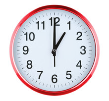 Wall Clock Isolated On White B...