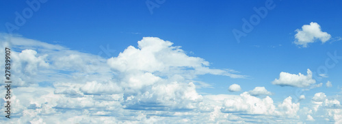 Blue sky clouds background. Beautiful landscape with clouds on sky - 278399107