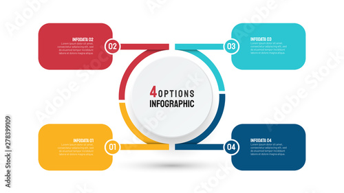 Photo  Business infographic template for presentation