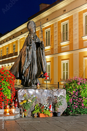 WADOWICE ,POLAND - APRIL 27, 2015: Monument of Pope John Paul II in his home tow Wallpaper Mural