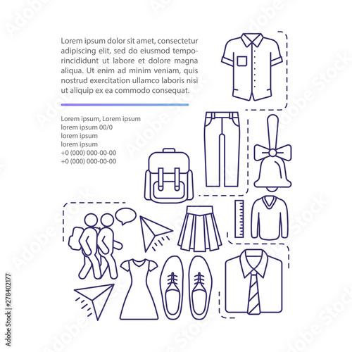 Fotografia School uniform article page vector template